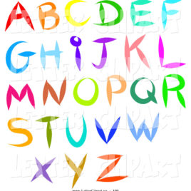 268x268 Colorful Printable Letters Best Coloring Pages