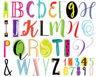 340x270 Font Clipart Hand Drawn Alphabet Clip Art Set Cartoon