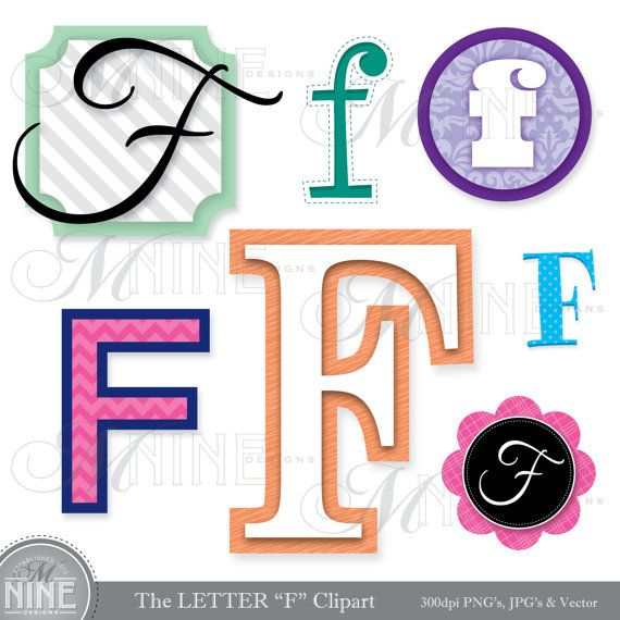 570x570 Letters Clipart Letter F Clip Art Graphics Vector File, Instant