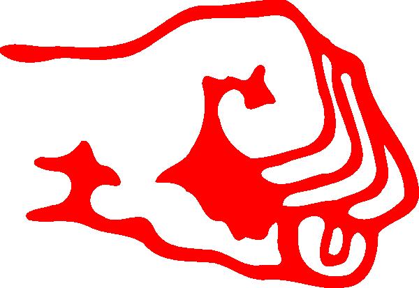600x413 Red Fist Logo Clip Art