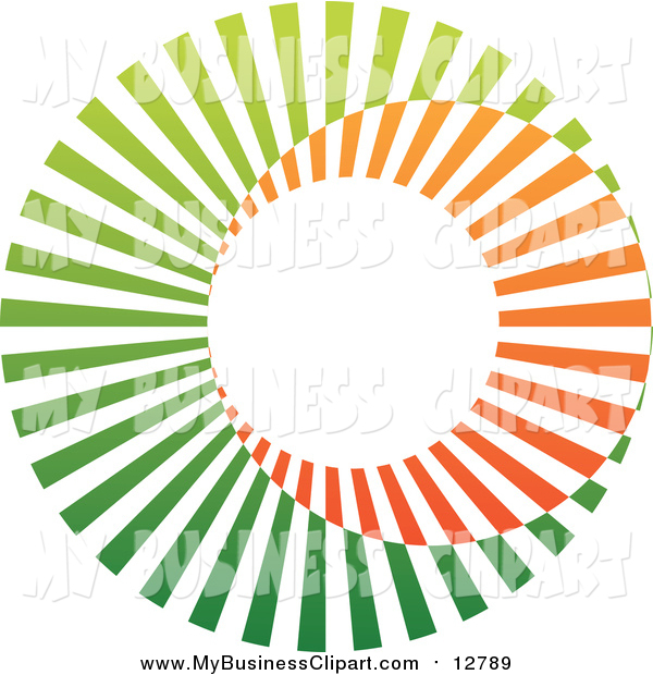 600x620 Vector Clip Art Of A Circle Logo Of Orange And Green By Cidepix
