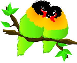 300x246 Free Love Birds Clipart Image 0515 1102 0614 5729