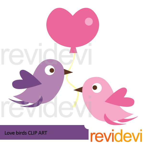 600x600 Love Birds Clipart Free Valentine Love Bird