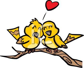 350x284 Love Birds Sitting In A Tree