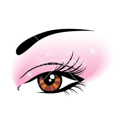 380x400 Eye Makeup Clipart
