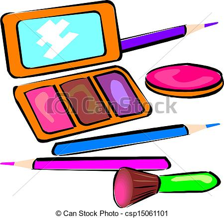 450x439 Makeup Objects, Vector Illustration Vector Clipart