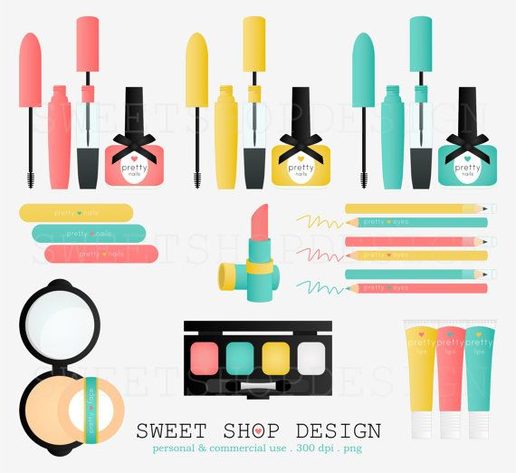 570x522 Pretty Things Makeup Clip Art, Bridal Clip Art, Royalty Free Clip