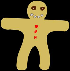 297x299 Gingerbread Man Running Clipart