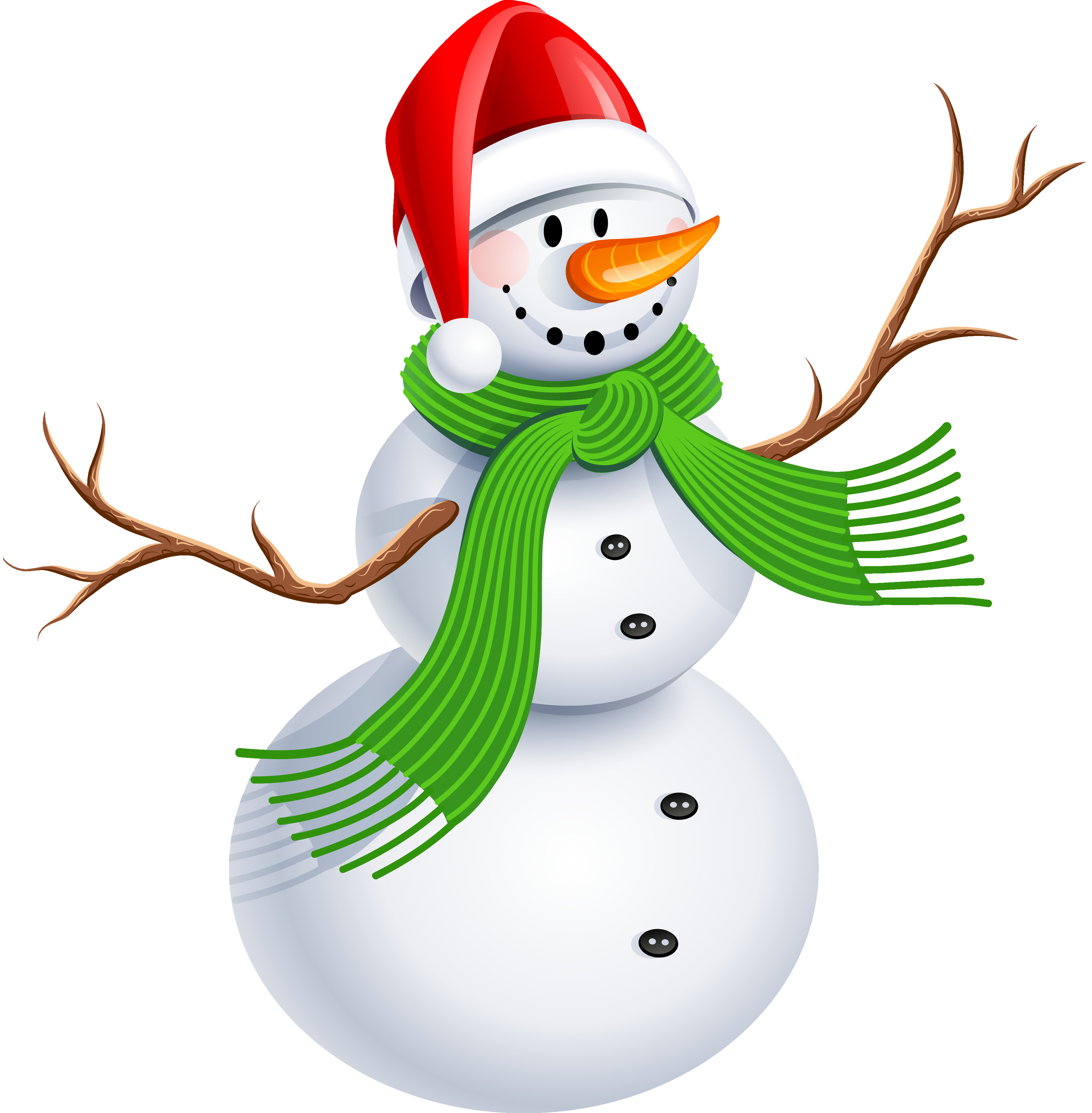 3581x3651 Snowman With Green Scarf Png Clipart Picture Gallery Unbelievable