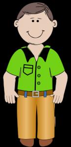 145x300 Standing Man Clipart Cartoon Man Clip Art