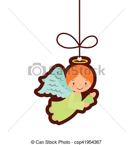 429x470 Cute Angel Manger Character Vector Illustration Design Clip Art