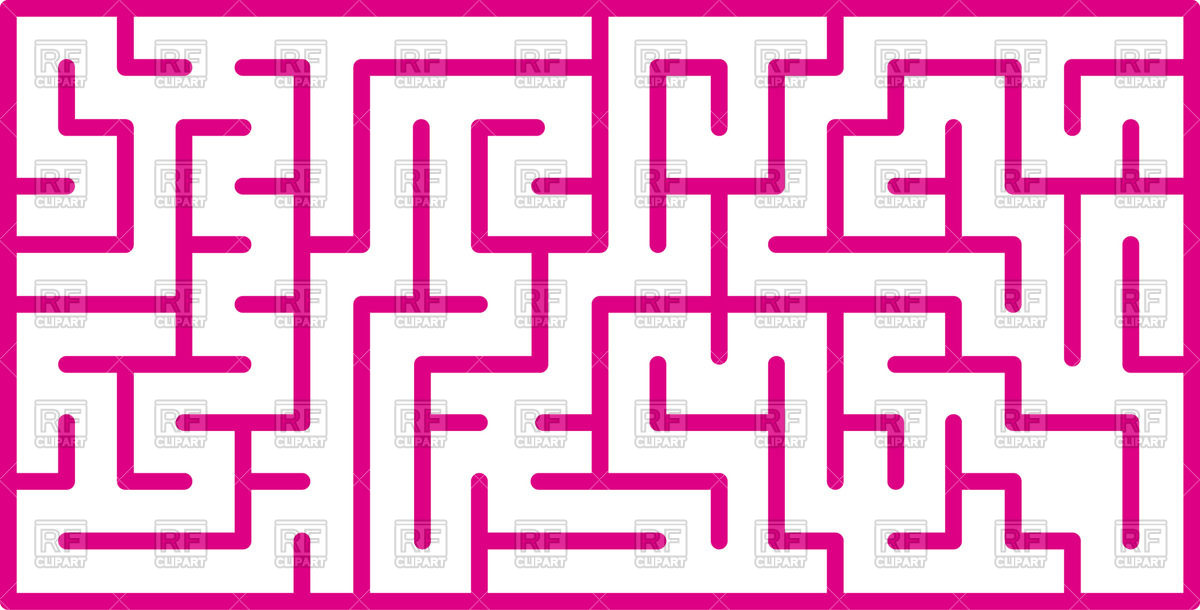1200x610 Pink Maze Vector Image Vector Artwork Of Objects Sermax55