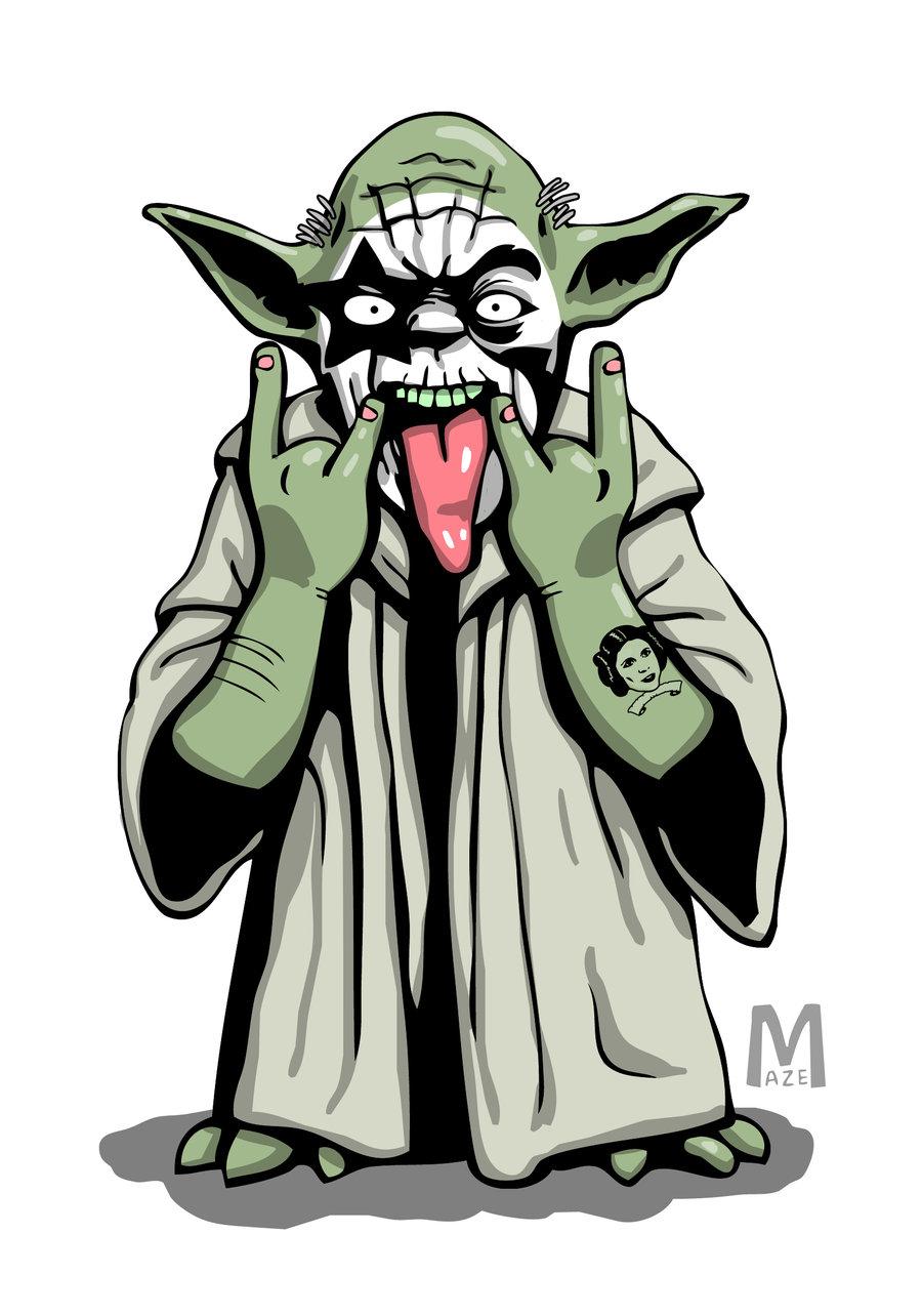 900x1284 Yoda Rockstar By B Maze