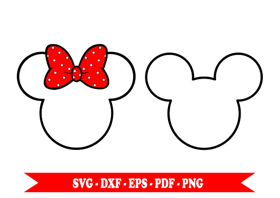 570x403 Minnie Mouse Svg Mickey Mouse Svg Clip Art Outline Svg