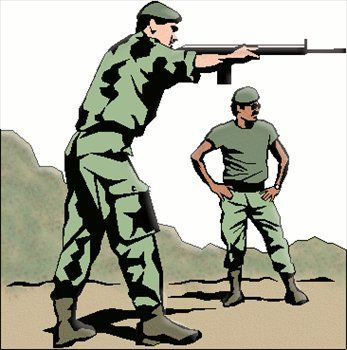347x350 Simple Soldiers Clipart Free