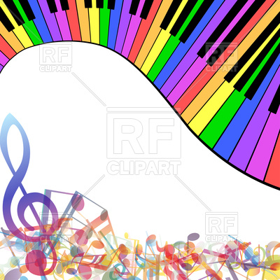 faa65936c460a 400x400 Multicolor Musical Note Staff Background Royalty Free Vector Clip