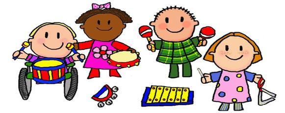 581x231 Cartoon Kids Music Clip Art Musical Instruments