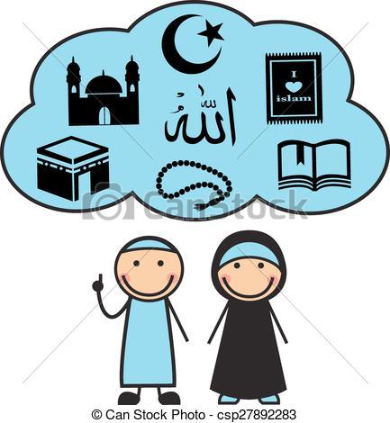 433x470 Cartoon Muslims And Muslim Symbols. Cartoon Man And Woman