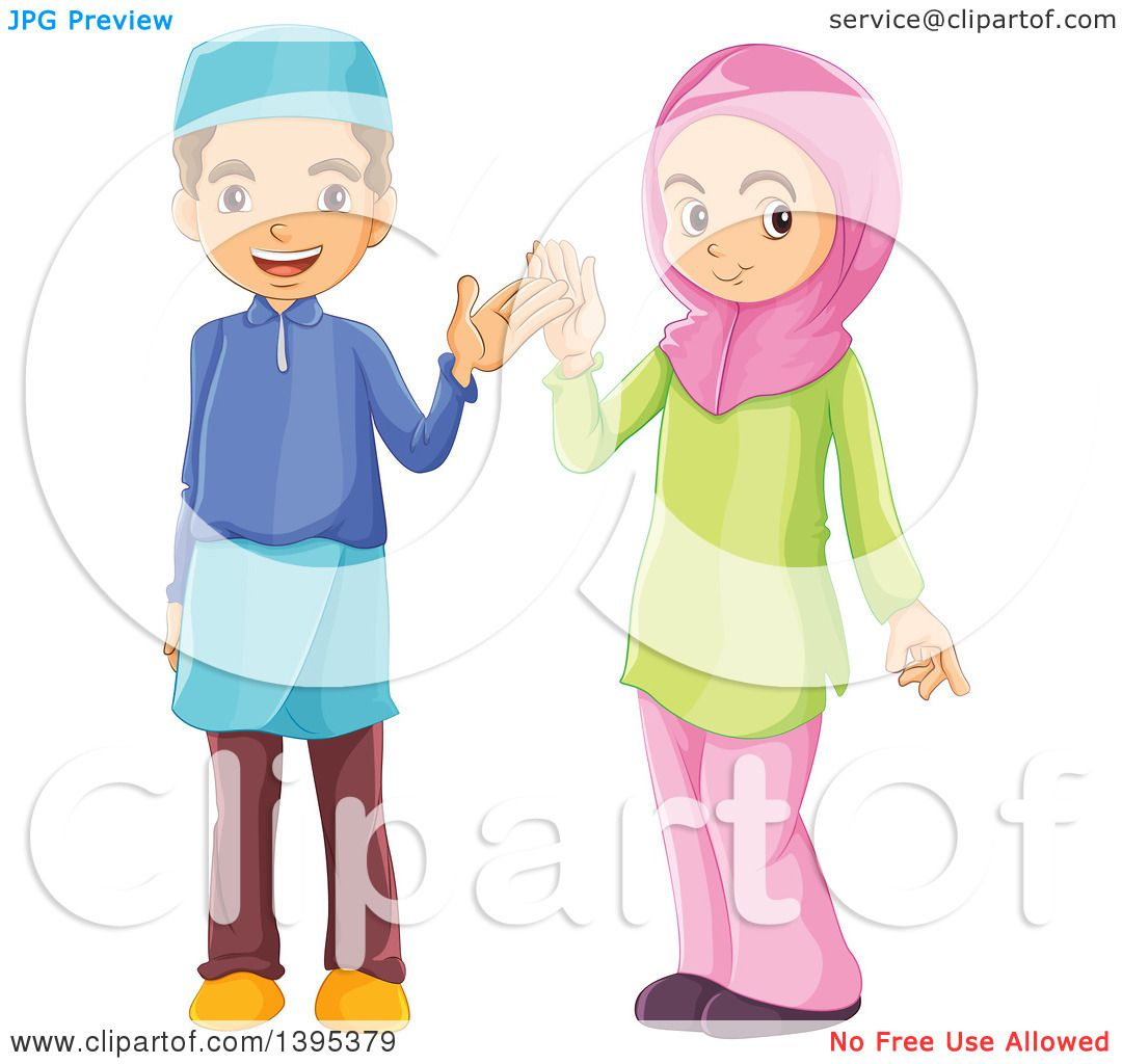 1080x1024 Clipart Of Muslim Children