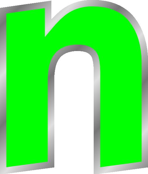 504x593 Lowercase N Clip Art