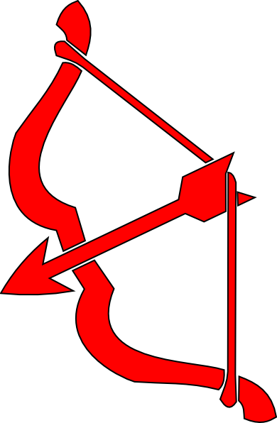 390x596 Red Bow N Arrow Clip Art