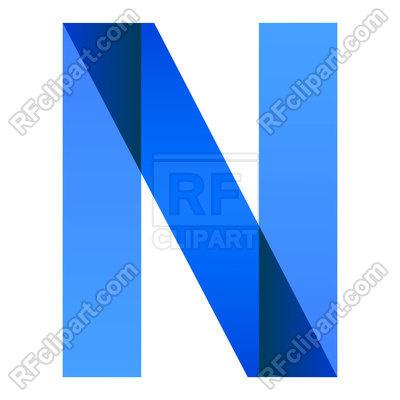 400x400 Alphabet Of Folded Paper Letter N Royalty Free Vector Clip Art