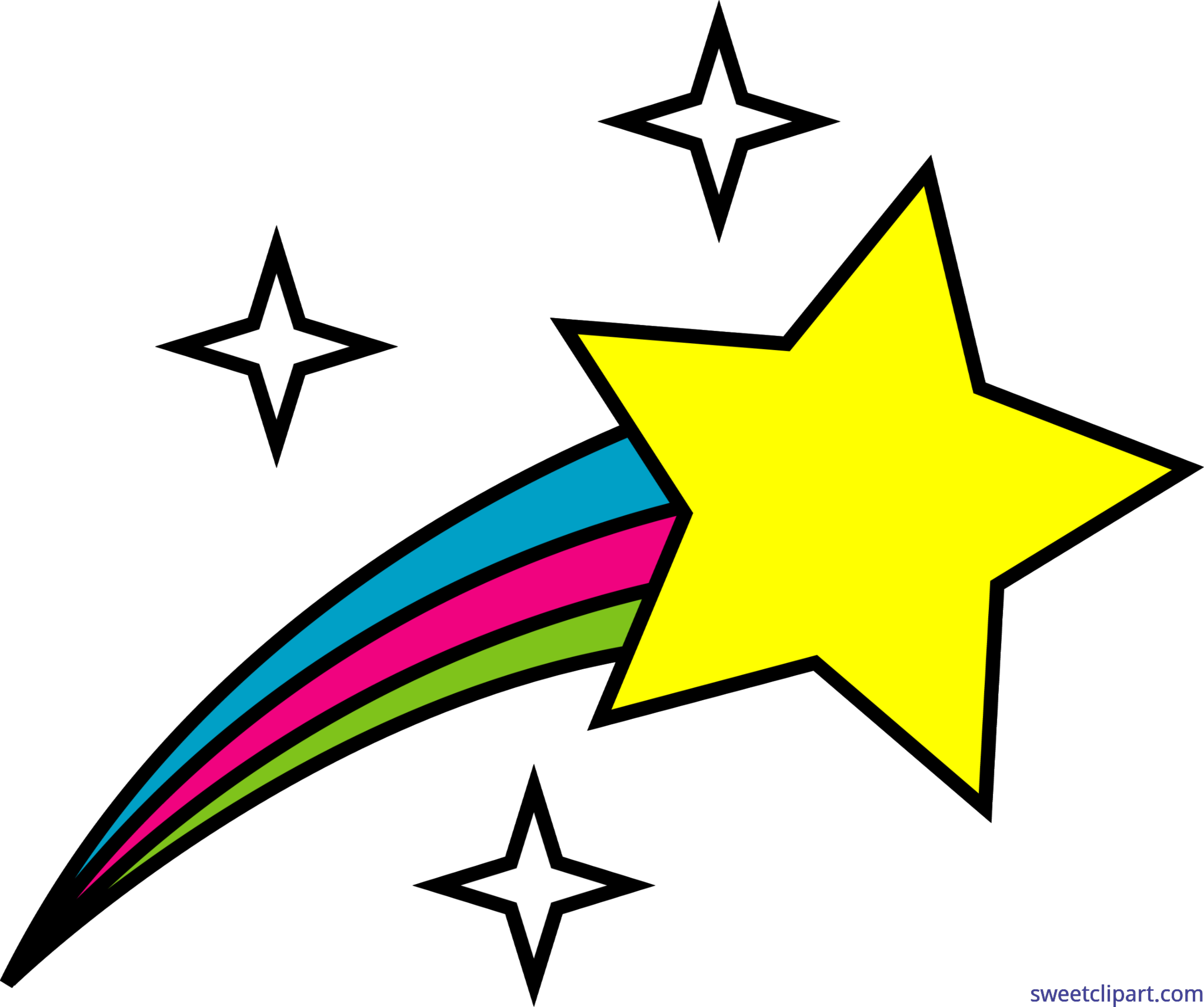 5292x4424 Nature Symbol Shooting Star 1 Clip Art