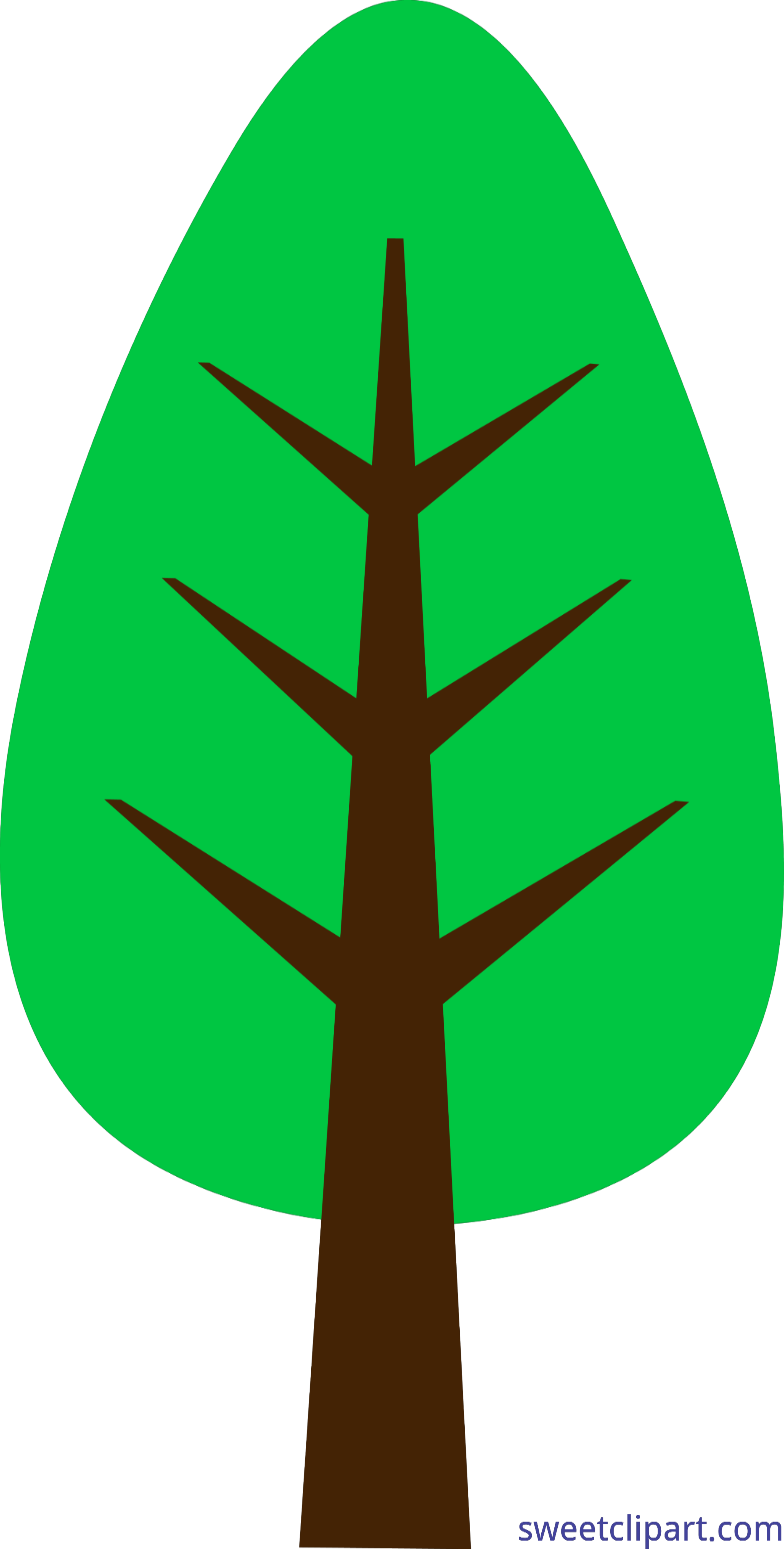 3128x6177 Nature Tree Simple Green 1 Clip Art