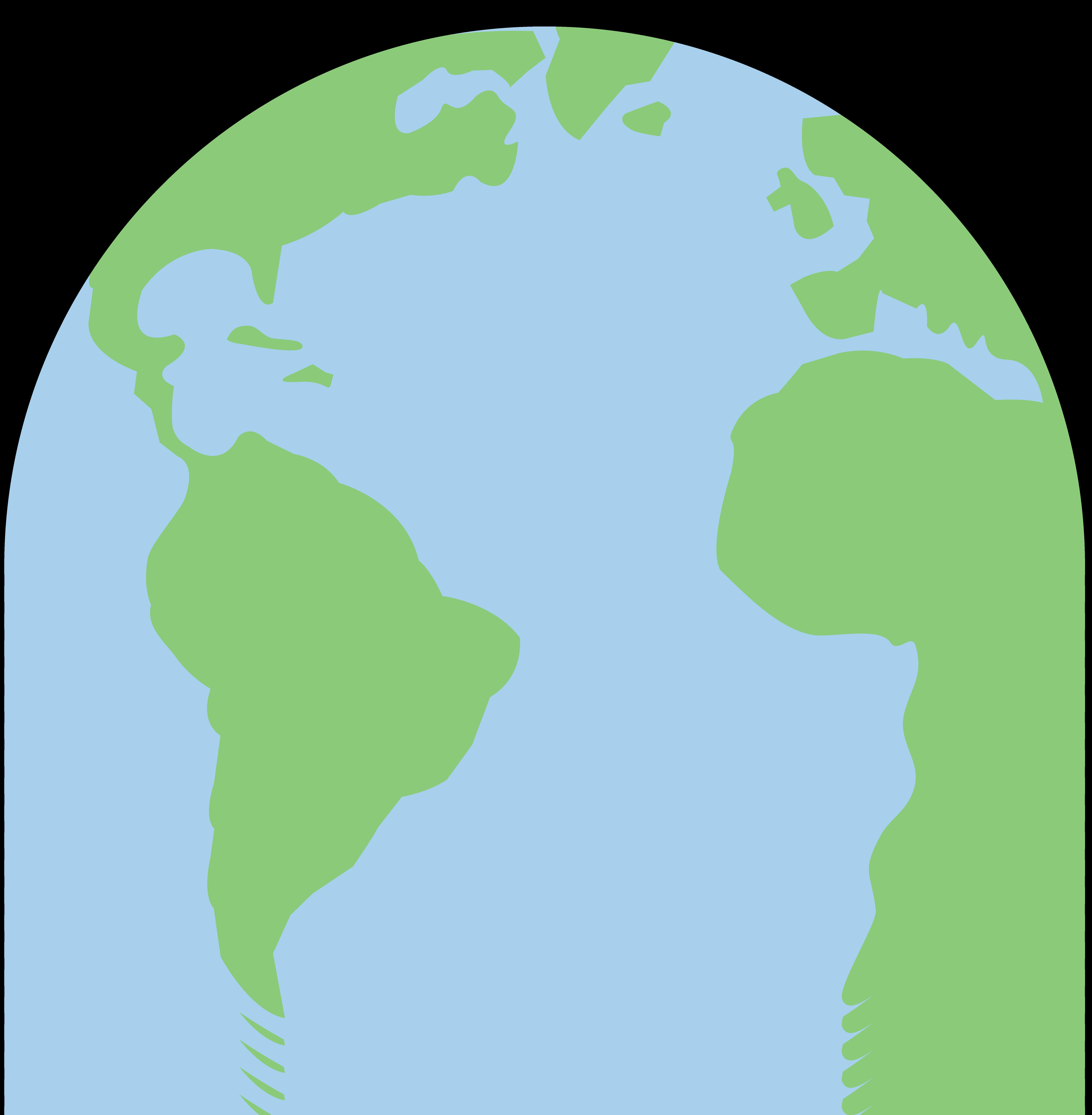 7205x7362 Planet Earth Pastel Clip Art