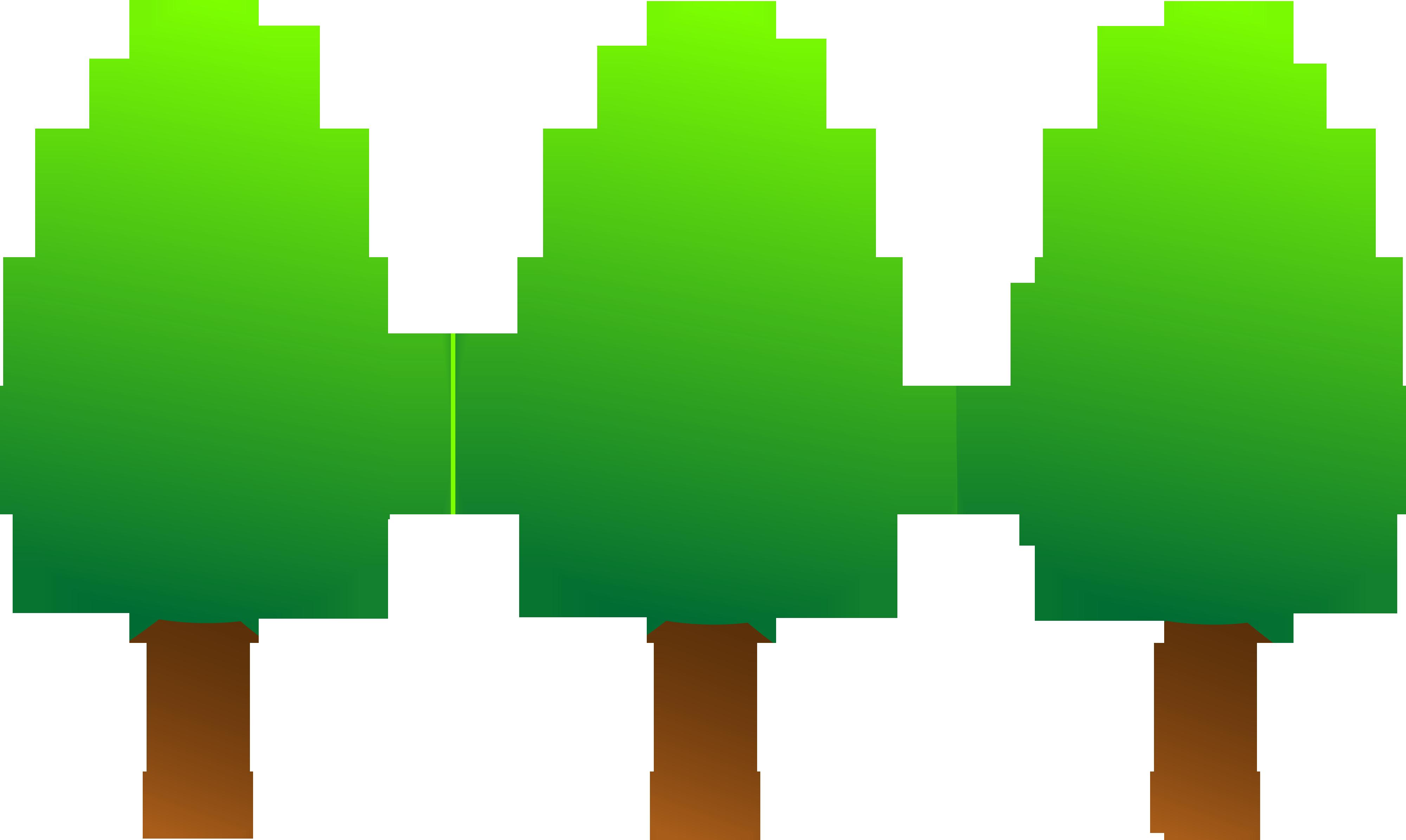 4000x2391 Cute Round Green Trees