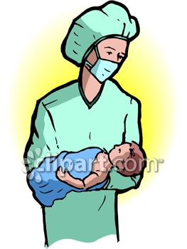 263x350 Doctor Holding A Newborn Baby