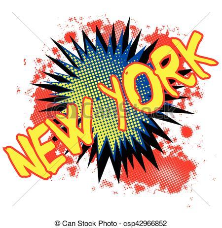 450x463 New York Comic Exclamation. A Comic Cartoon Style New York