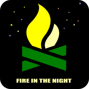 300x300 Night Fire Wood Clip Art