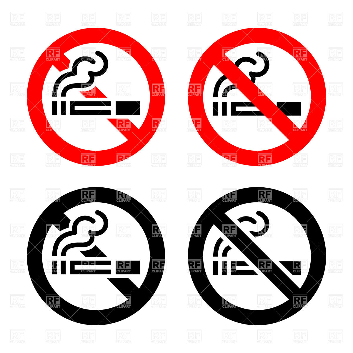 1200x1200 Smoking Not Allowed Sign Royalty Free Vector Clip Art Image