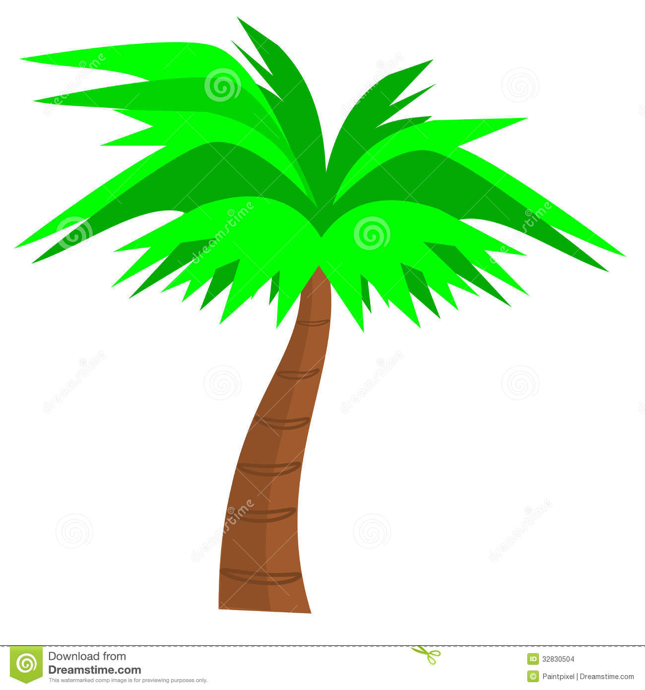 1300x1390 Curved Palm Tree Clipart