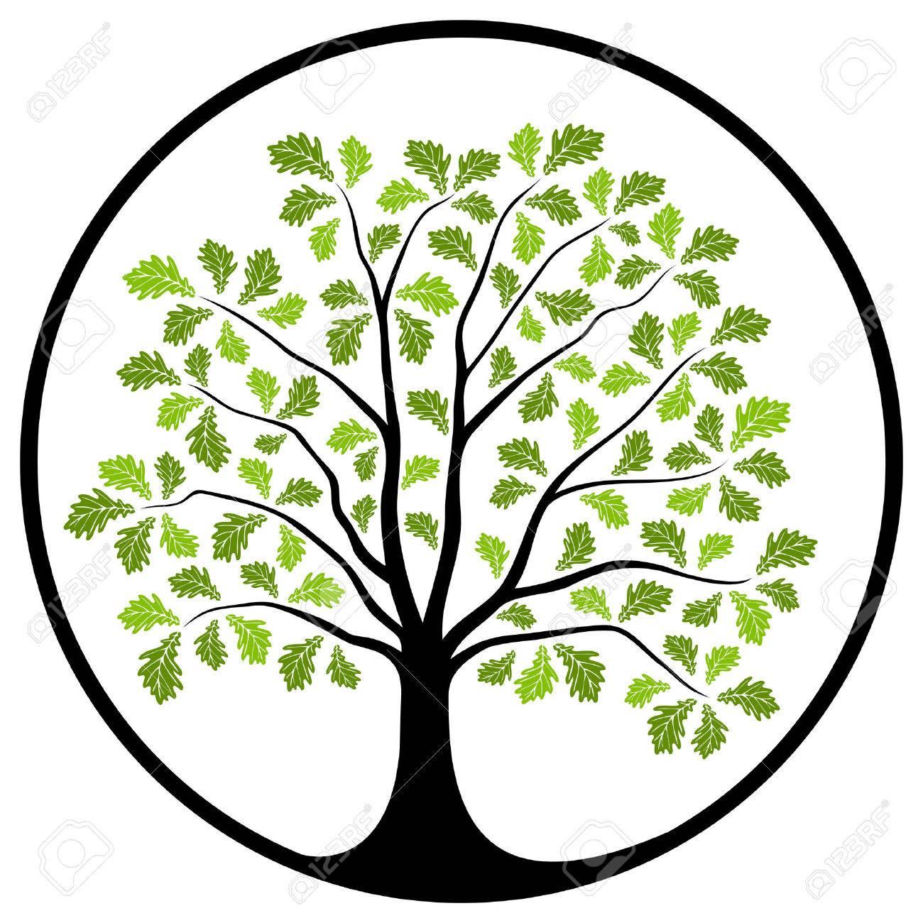1300x1300 Free Oak Tree Clip Art