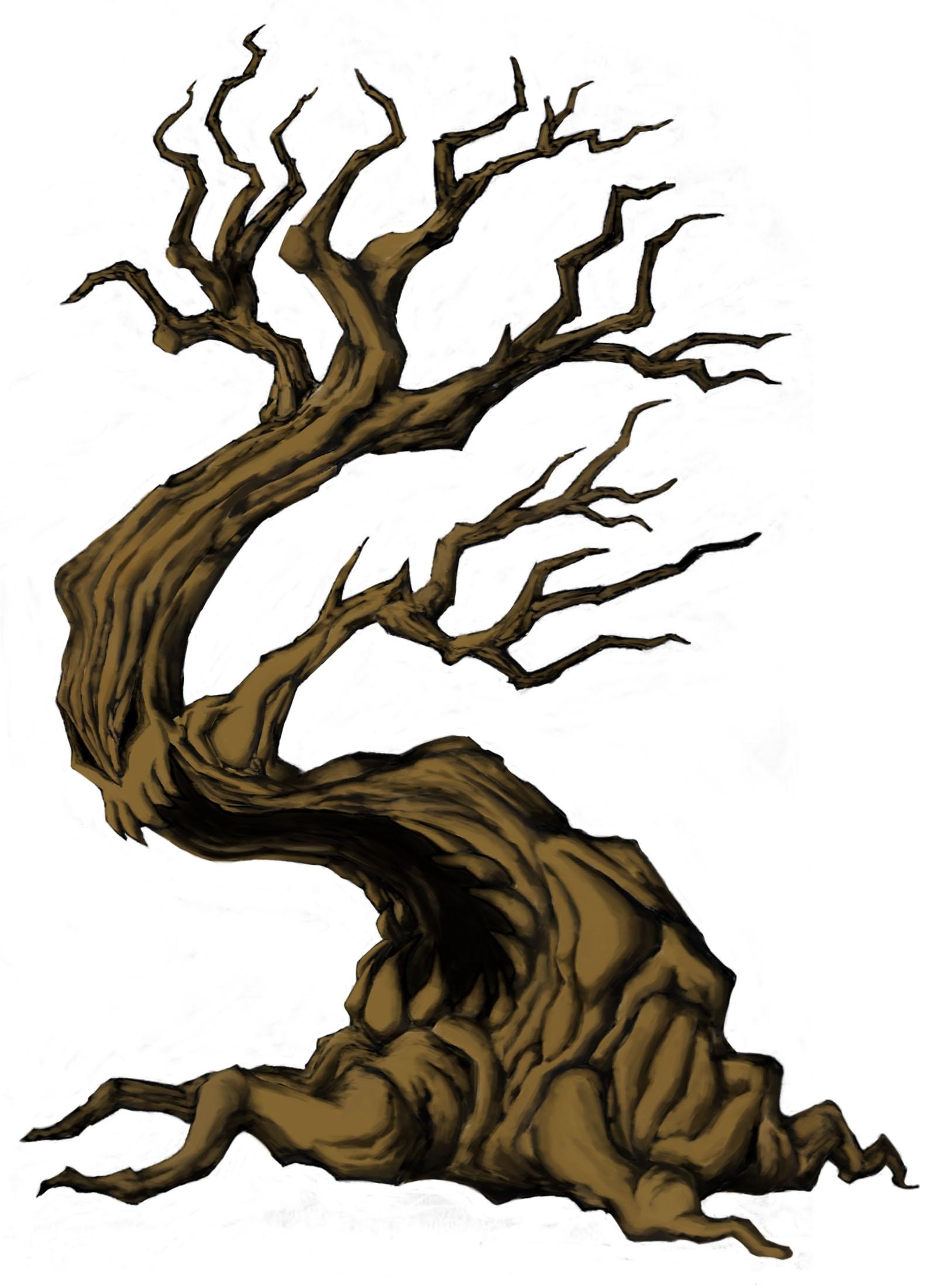 1600x2200 Clip Art Creepy Tree Art Igfjnyr