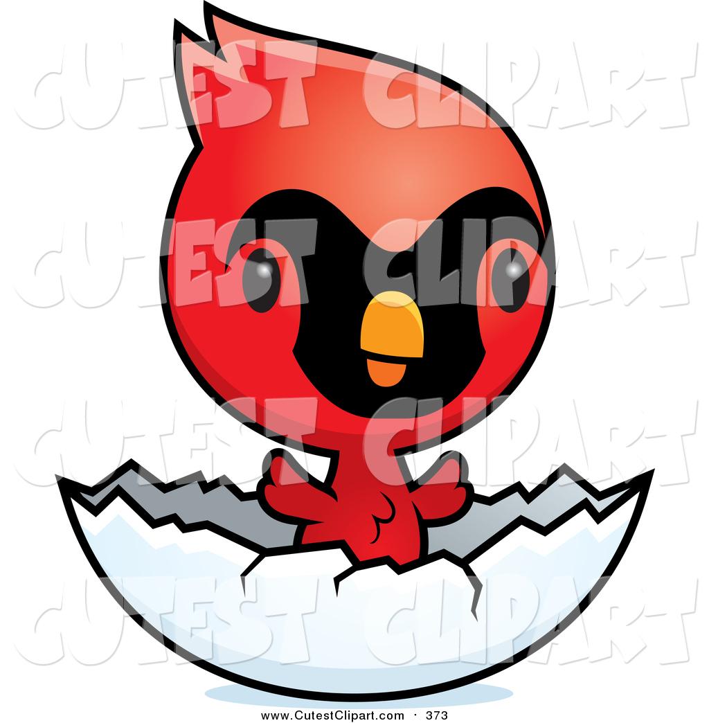 1024x1044 Cartoon Vector Clip Art Of A Cute Red Baby Cardinal Chick Bird
