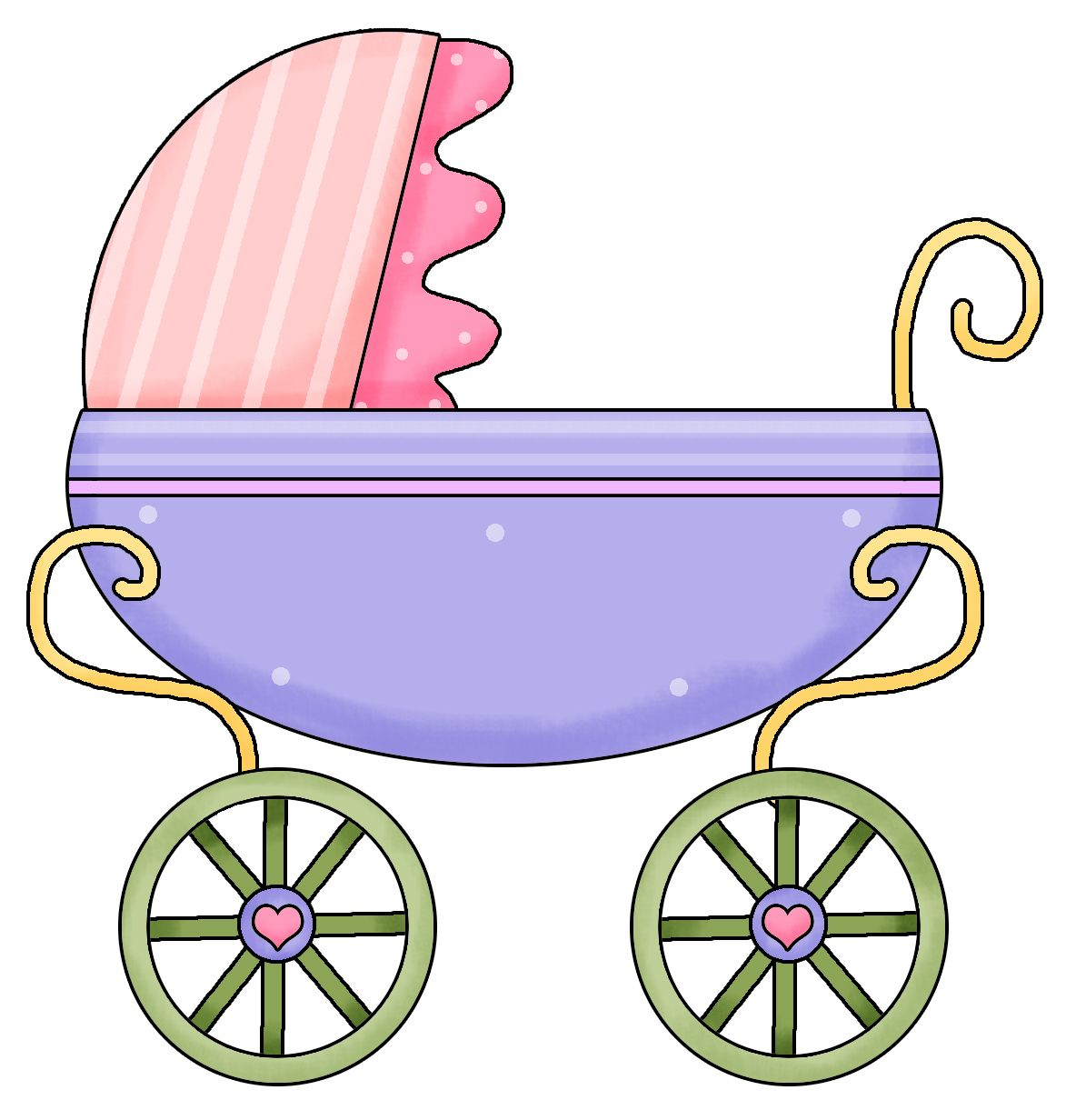 1173x1232 Pink Baby Carriage Clip Art
