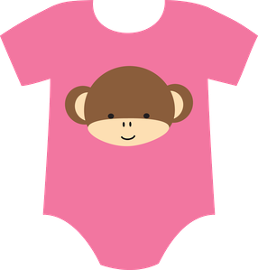 286x299 BABY GIRL ONESIE CLIP ART Baby Items Pinterest Baby girl