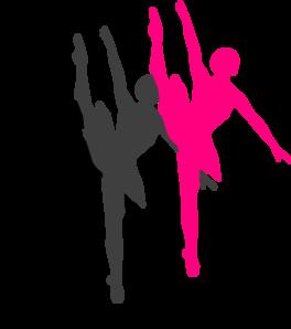 264x298 Triple Ballet Dancer Silhouette Clip Art