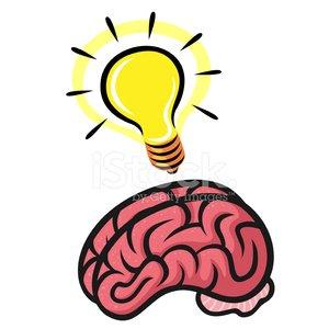300x300 Lightbulb Brain Stock Vectors