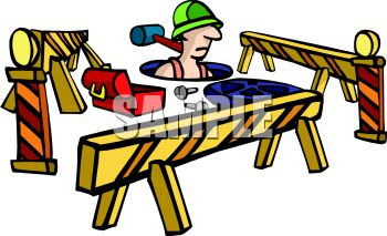 350x213 Royalty Free Clipart Image City Sewer Worker Going Down A Manhole