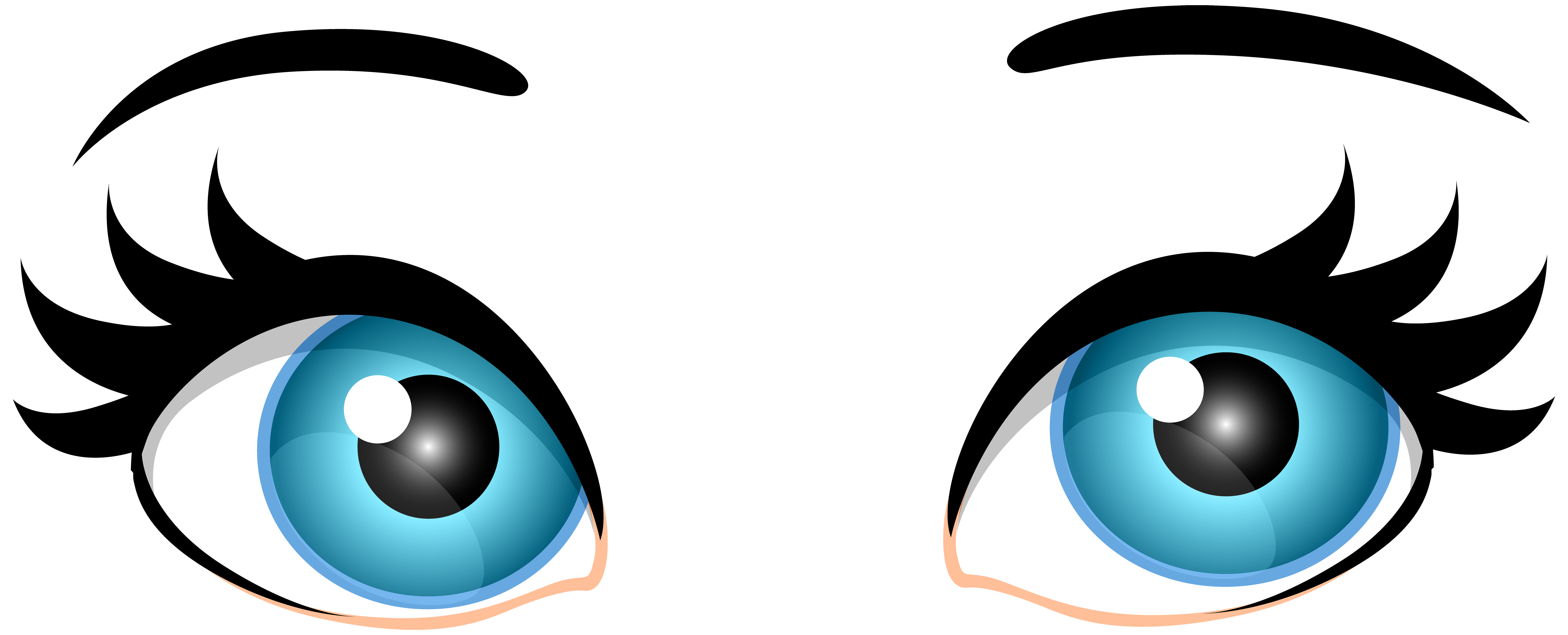 7000x2838 Well Suited Clipart Of Eyes Png Clipartuse Blue Female Png Clip