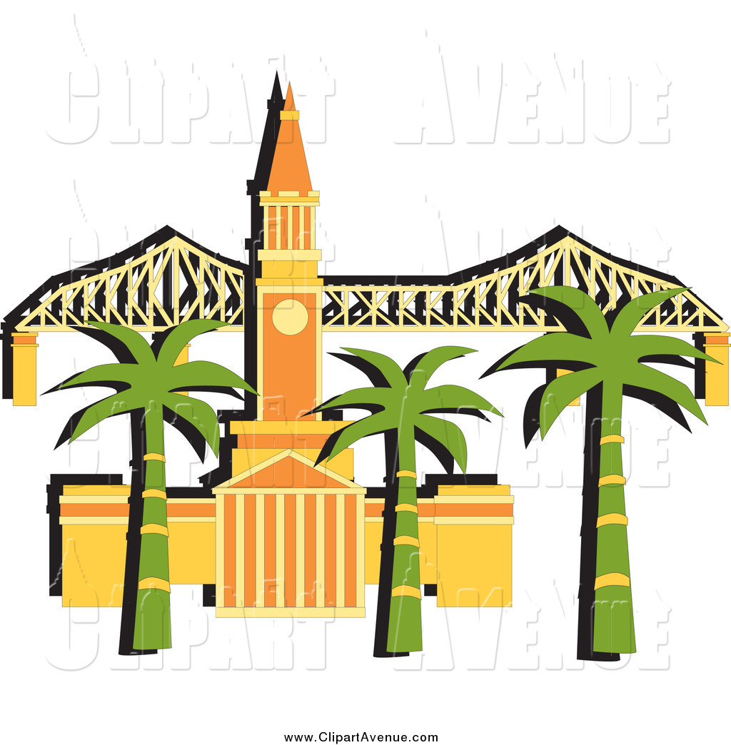 1024x1044 Avenue Clipart Of A Palm Trees In Front Of The Brisbane City Hall