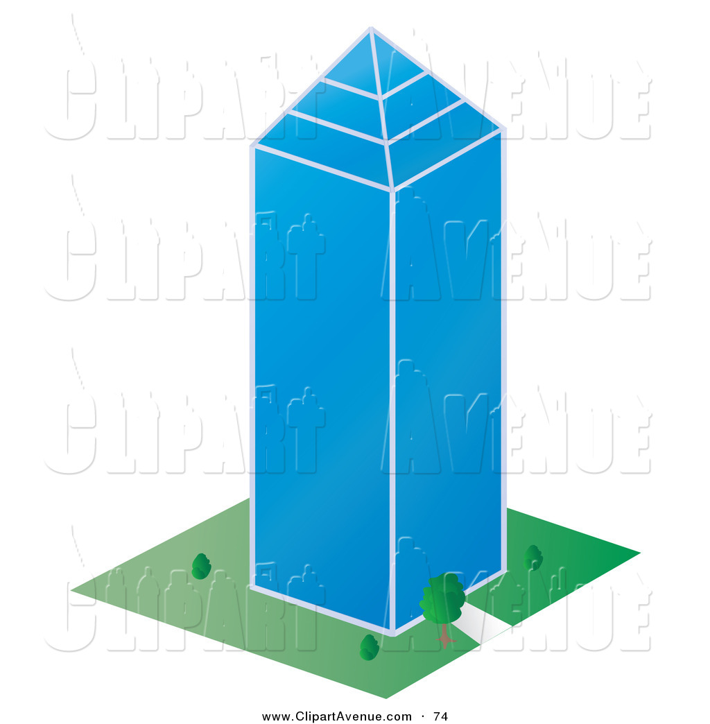1024x1044 Avenue Clipart Of A Tall Glass Skycraper Building In A Citytall