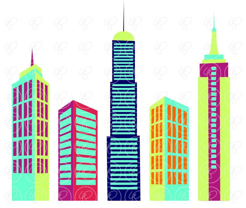 961x814 Big City Digital Skyscraper Clip Art Skyscrapers Tall Buildings
