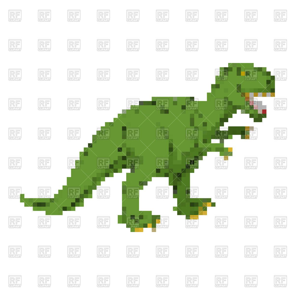1200x1200 Dinosaur Pixel Art Royalty Free Vector Clip Art Image