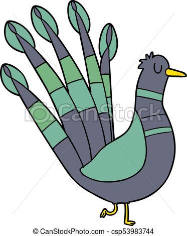373x470 Cartoon Peacock Eps Vector