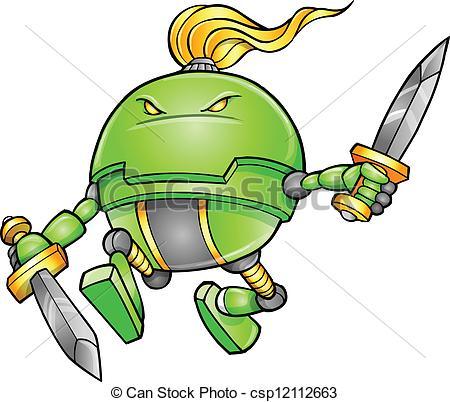 450x402 Warrior Ninja Cyborg Soldier Vector Clip Art Vector